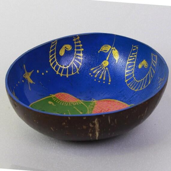 Classic Oriental Decorative Multipurpose Handmade Coconut Shell Handcraft Bowl (PC 21)
