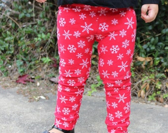 Baby Toddler Christmas Leggings Reinder by LaureLeafCreations