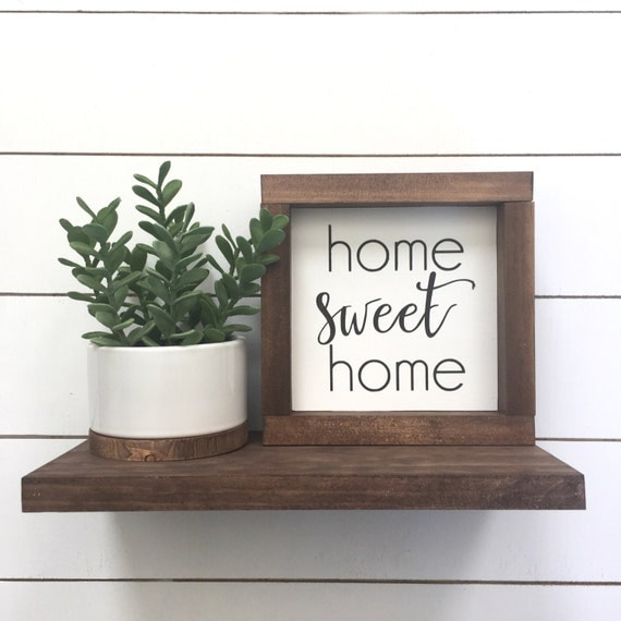 home sweet home mini wood sign home decor shelf decor. Black Bedroom Furniture Sets. Home Design Ideas
