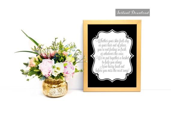 Items Similar To Wedding Bathroom Basket Sign Wedding Bathroom Wedding Bath