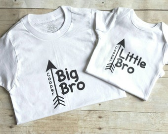 Personalized big brother, little brother shirts, sibling shirt