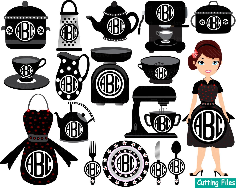 Restaurant Kitchen Toolste kitchen restaurant utensils food silhouette cameo cutting