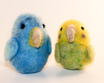 Needle Felted Budgies Ready to Ship