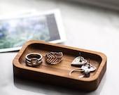 Ring Holder - Bamboo Ring Dish - Free Shipping