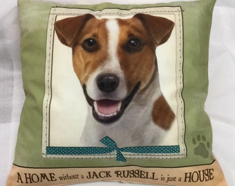 Jack Russell Pillow, Jack Russell Gift, Pet Gift