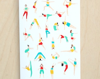 Illustrated Yoga Greetings Card - Blank Inside