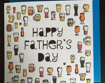 Father's day card, beer card