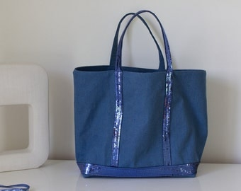 Sequin linen bag