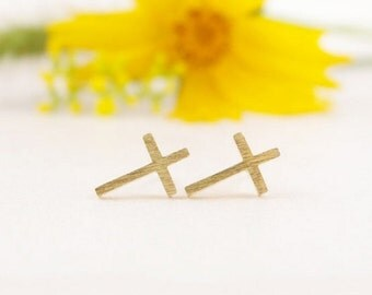 Cross / Studs / Earrings / Silver / Gold / Hipster / Trendy / Everyday / Simple / Dainty / Minimalist / Petite