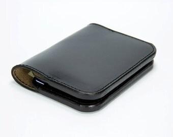 Minimal Leather Wallet, Card Wallet, Card Holder, Black Chromexcel Wallet, Black Horween Leather Wallet