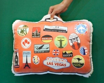 FunPrint Suitcase Pillow