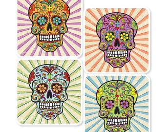 Sugar Skull Coasters (set of 4)