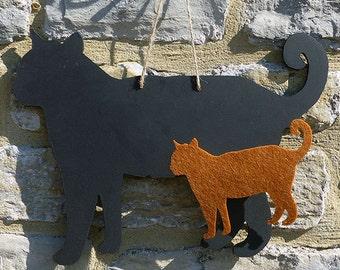 A Standing Cat Black Cat