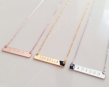 Custom Name Necklace Anniversary Gift Personalized women Personalized wedding jewelry Bridesmaid Necklace gift for her