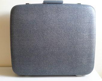 Vintage McBrine Blue Suitcase.
