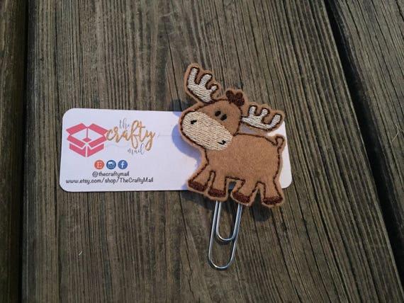 Full body Moose Planner Clip/Paper Clip/Feltie Clip. Moose planner clip. Moose feltie. Animal Feltie Clip