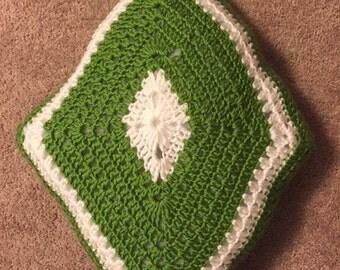 Handmade crocheted pillow