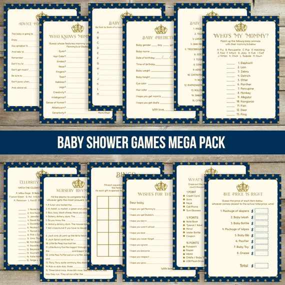 12 Prince Baby Shower Games Royal Baby Shower By DrawMeAParty