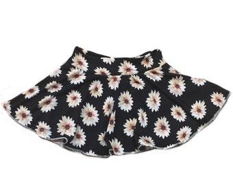 Lightweight white Hem Daisy Circle Twirl Skirt • Baby/Toddler/Child • Custom • Handmade to Order