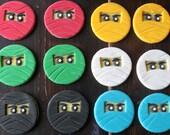 LEGO NINJAGO Fondant Cupcake Toppers 12 pcs ~Birthday party~