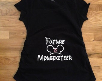 Disney Maternity Shirt, Future Mousekeeteer Maternity T-Shirt
