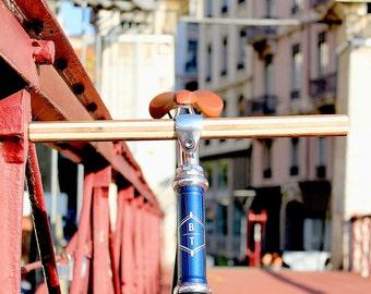 Wooden handlebar for fixie or single speed Handmade in France !