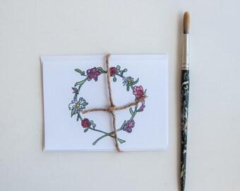 Summer Flower Crown Card Set.