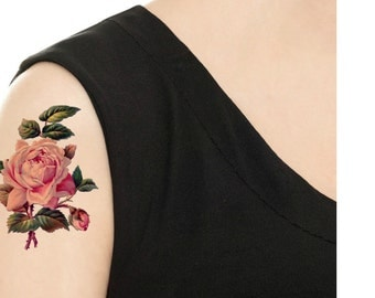 Temporary Tattoo -  Vintage FloralTattoo - Various Patterns and Sizes