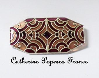 Vintage Catherine Popesco Brooch, 25x48mm (B1-19)
