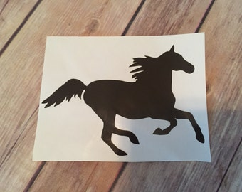 Horse yeti decal; horse vinyl decal; horse car decal