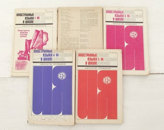 """Soviet time magazines  """"The study of foreign languages at school"""", 1986/ soviet educational literature"""