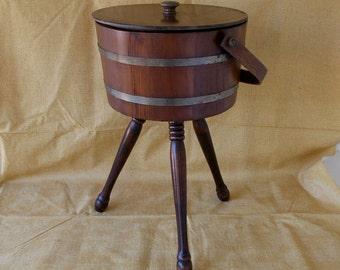 Vintage Basketville Sewing Cabinet Stand, Sewing Storage