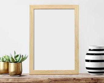 "12x18x1.25"" Frame, Glass, Backing, Unfinished Wood Frames, 12x18 Picture Frame, Large Poster Frame, Art Display Frame, Photo Frame"