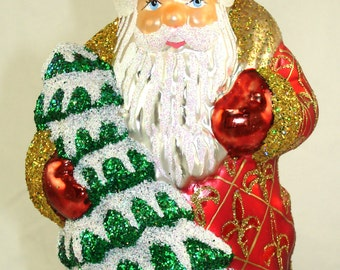 Santa glass ornaments Ino Schaller Germany #17