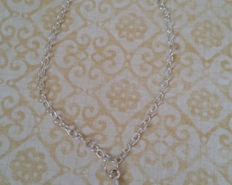 Sterling silver .925 Cross charm bracelet