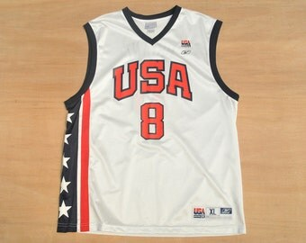 Team USA Olympics - Size XL - Kobe Bryant - Reebok NBA Basketball Jersey - 2002 Olympics