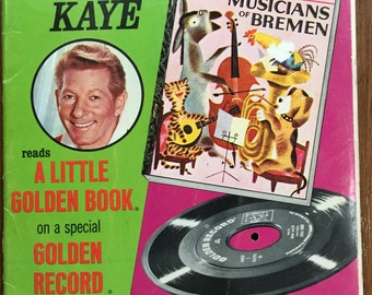 Danny Kaye Reads A Little Golden Book The Musicians of Bremen  by Bros Grimm, illustrated J.P.Miller  1954