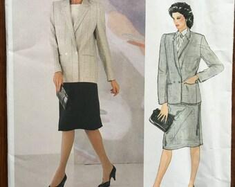 Size 14 Vogue American Designer 1104;  ca. 1983; Joseph Picone - Misses' Jacket and Skirt. FF Uncut