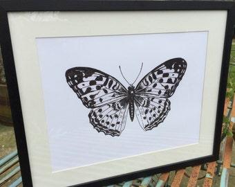 Butterfly print Wall Art  Illustration