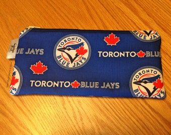 Toronto Blue Jays Baseball MLB Zipper Pencil Pen Pouch