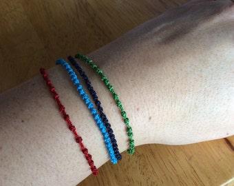 Custom Thin Orthodox 33 Knot Prayer Rope Bracelet, set of 3