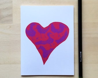 Psychedelic Love Birds A2 card