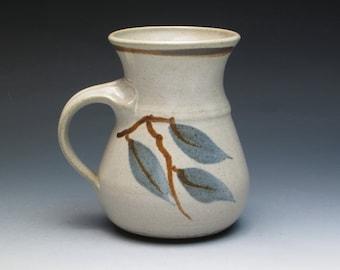 Just a good Pottery Mug, Signed Silson Chiras, Hand Thrown Studio Pottery Stoneware Mug