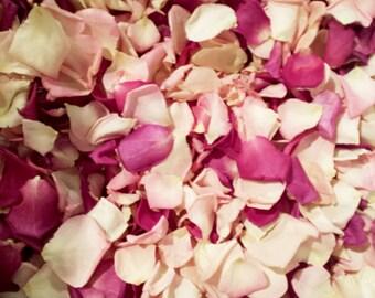 Freeze Dried Rose Petals, mix pink, 10 cups of NATURAL rose petals.FOR DECORATION