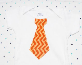 Baby Onesie - Orange Tie