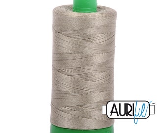 Aurifil Thread 2900 Light kakhy green 40wt 100% cotton quilting dressmaking thread machine embroidery UK Shop