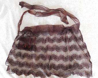 Antique Black Lace Apron