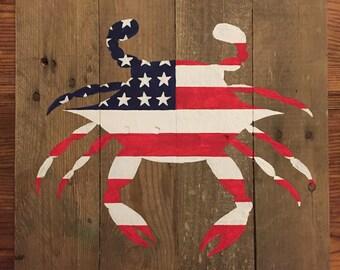 American Flag Crab Pallet