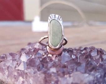 Turquoise Moon Beam Ring