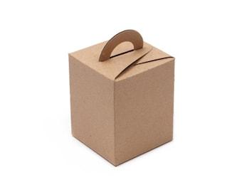 20 x Kraft paper boxes / Kraft boxes / Gift boxes / favor boxes / candle boxes / party boxes / handle boxes / soap boxes / paper boxes /